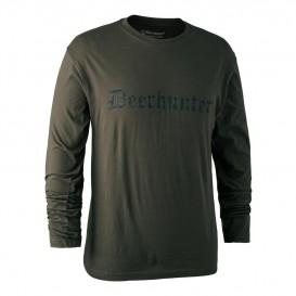 DEERHUNTER Logo T Shirt L/S - nátelník s nápisom