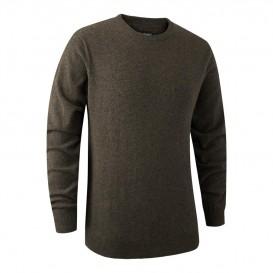 DEERHUNTER Brighton Knit O-neck Elm - poľovnícky sveter