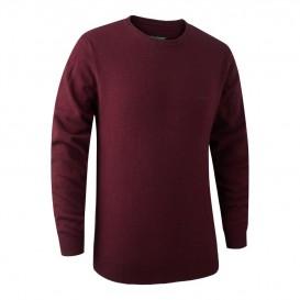 DEERHUNTER Brighton Knit O-neck Red | poľovnícky sveter