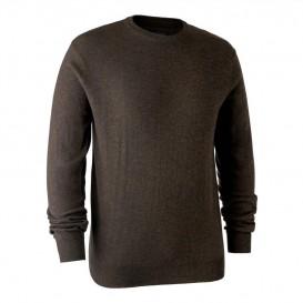 DEERHUNTER Kingston Knit with O-neck - merino sveter
