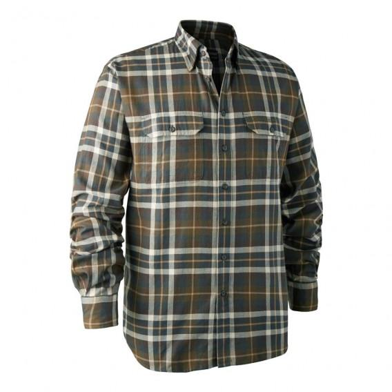 DEERHUNTER Marlon Shirt Green   košeľa s dlhým rukávom