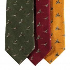 DEERHUNTER Tie w. Pheasant Green - poľovnícka kravata